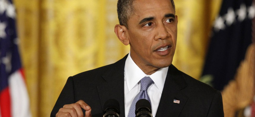 Obama spoke from the White House Friday.
