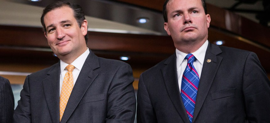 Sen. Ted Cruz, R-Texas, left, and Sen. Mike Lee, R-Utah, have made waves in the GOP lately.