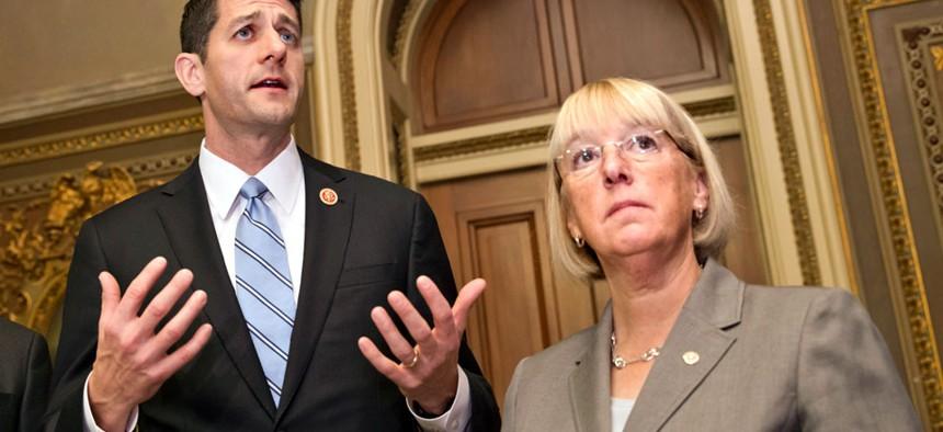 House Budget Committee Chairman Rep. Paul Ryan, R-Wis., left, and Senate Budget Committee Chair Sen. Patty Murray, D-Wash.