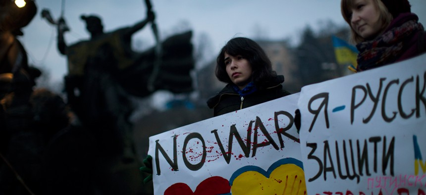 Protestors have been gathering in Kiev for months.