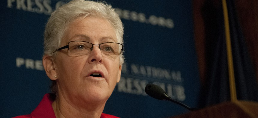 """""""I believe it is my obligation to provide the leadership and stewardship needed to ensure we grow the kind of organization that the dedicated, hardworking, professional public servants at EPA deserve,"""" EPA's Gina McCarthy said."""