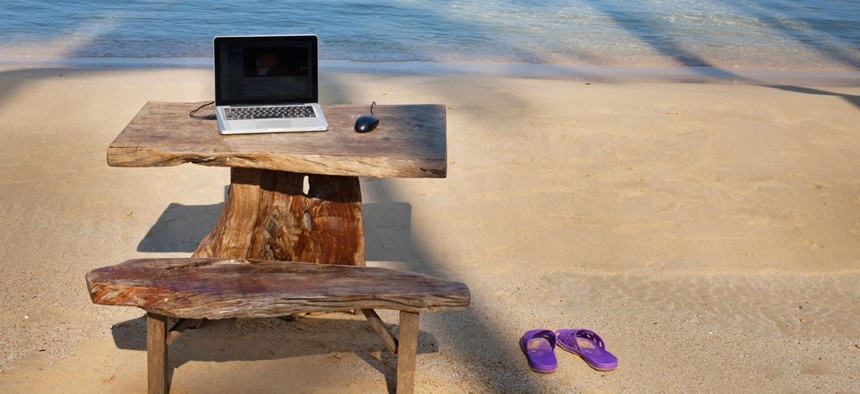 Part work, part retirement: Feds could spend more time at the beach. Or even working at the beach.