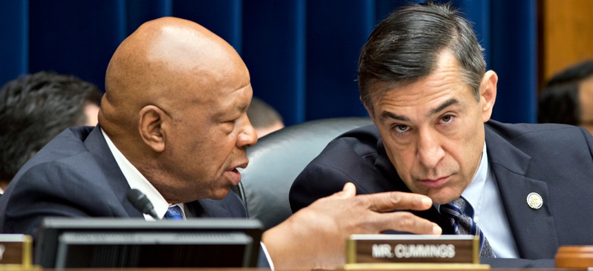 Reps. Elijah Cummings, left, and Darrell Issa introduced the bill to expand IG authority.