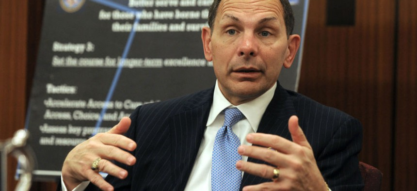 """VA chief Bob McDonald cited progress but acknowledged there is still """"work to do."""""""
