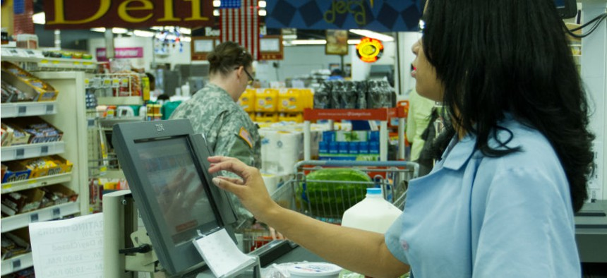 The bill rejects an administration proposal to cut money for military commissaries.