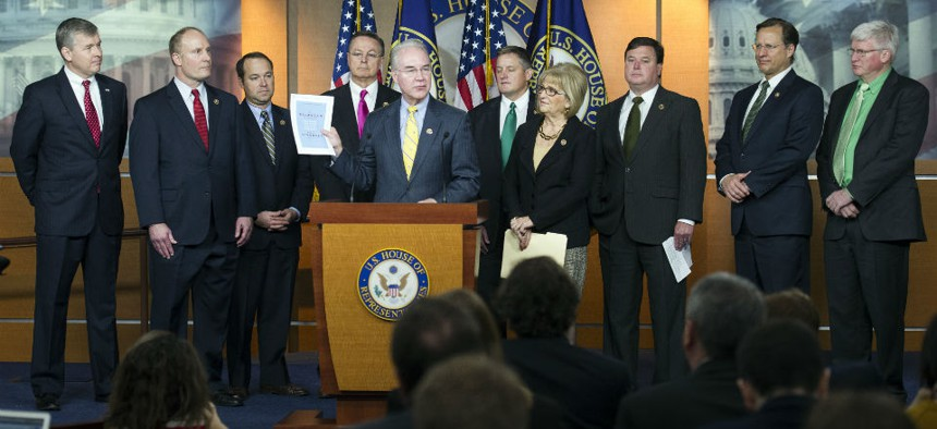 Rep. Tom Price, R-Ga., and other Republican members of the House Budget Committee release the 2016 plan.