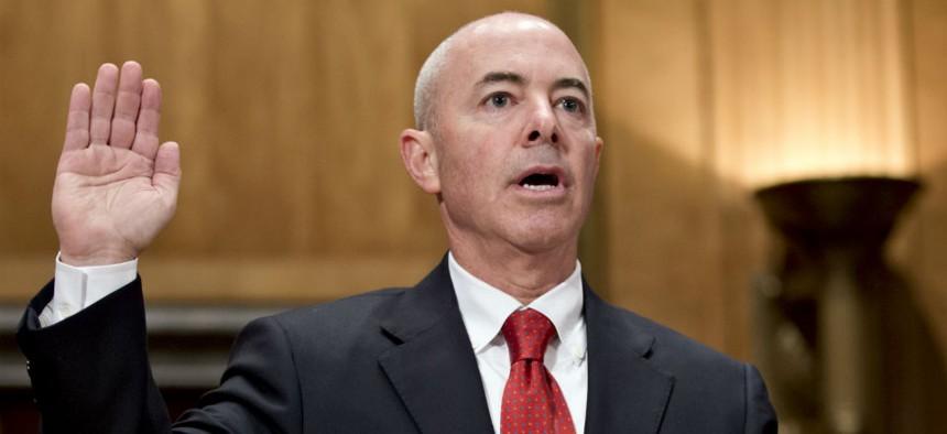 Alejandro Mayorkas at his Senate confirmation hearing in July 2013.