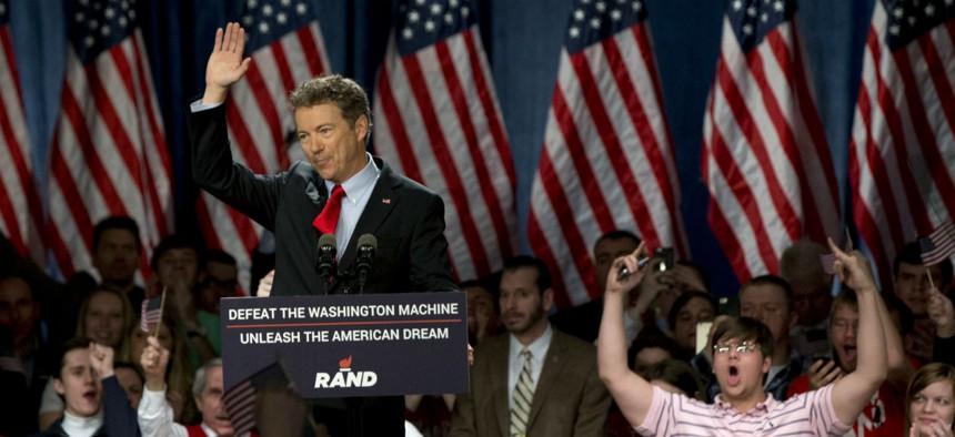 Sen. Rand Paul, R-Ky., announces his candidacy.