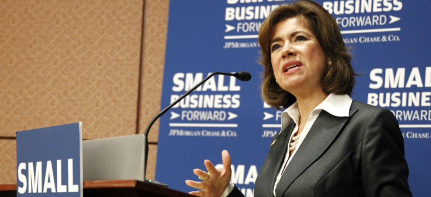 SBA Administrator Maria Contreras-Sweet. Public Citizen accused SBA of using accounting tricks and misapplying the law.