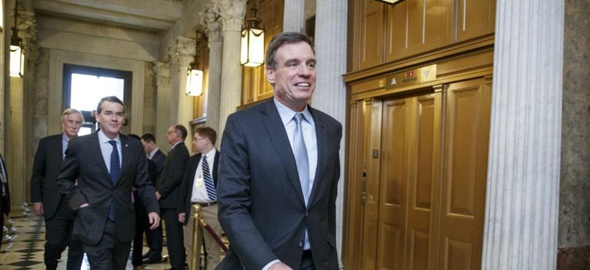 Virginia Sen. Mark Warner on Capitol Hill in March.