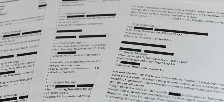 Lerner emails obtained last summer from the House Ways and Means Committee.