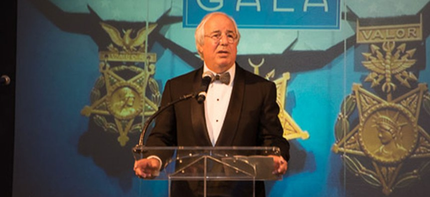 Frank Abagnale delivers a keynote speech at the 2015 Medal of Honor Gala.