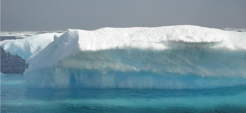 Multi-year ice melting.