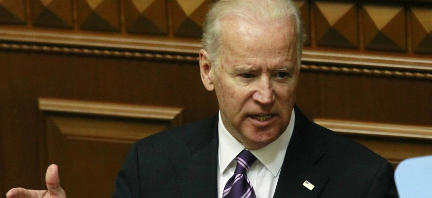 The bill would continue to freeze Vice President Joe Biden's pay, along with that of most political appointees.