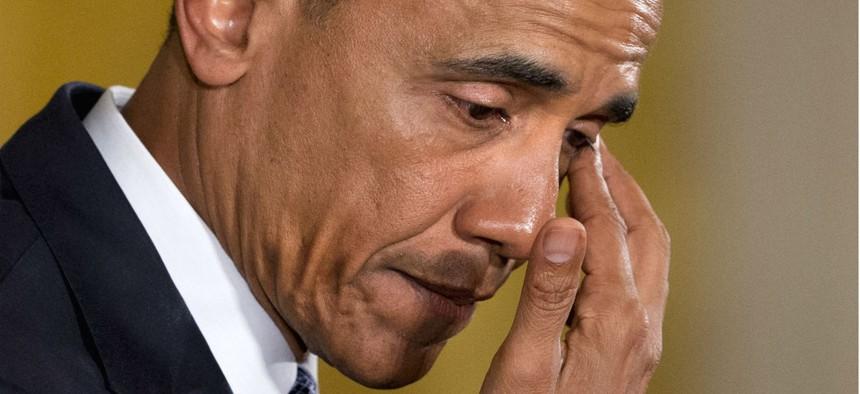 Obama speaks about gun violence.
