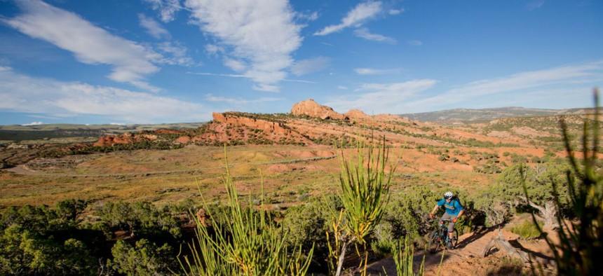 BLM-managed land in the Uinta Basin, Utah.
