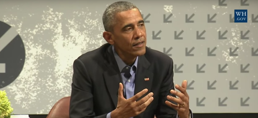 President Obama at the South by Southwest festival.