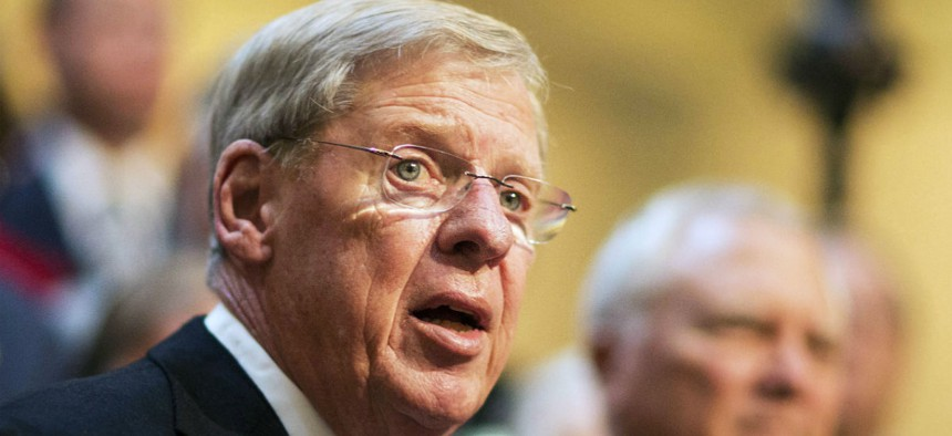 Sen. Johnny Isakson, R-Ga., has said he would like to get the package on Obama's desk by Memorial Day.