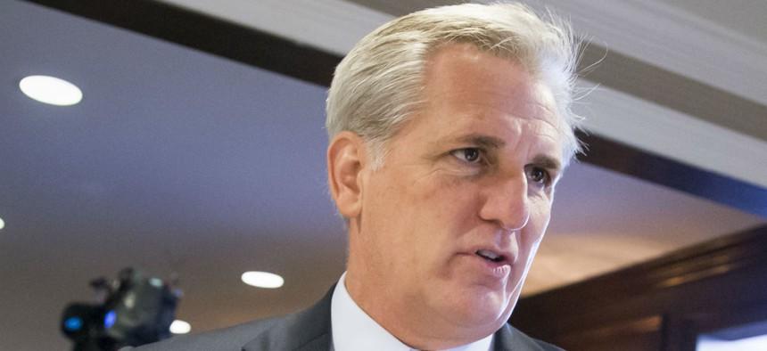 House Majority Leader Kevin McCarthy praised passage of the bonus ban.