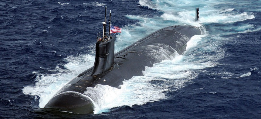 A Seawolf-class submarine, as above, carries an internal accelerometer so it can still benefit from GPS.