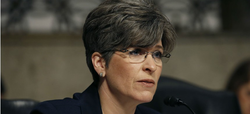 """Sen. Joni Ernst, R-Iowa, expressed concern about White House teams promulgating a flurry of last-minute """"midnight regulations"""" without sufficient review."""