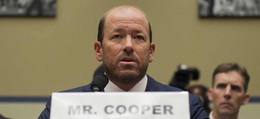 Former Clinton employee Justin Cooper testifies before the House Oversight and Government Reform Committee.