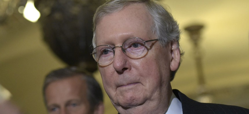 Senate Majority Leader Mitch McConnell has scheduled a vote to proceed on a stopgap spending bill for Monday evening,