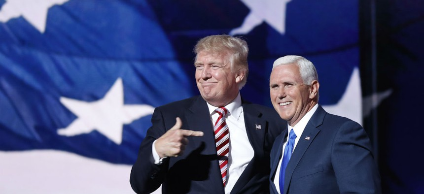 Donald Trump and his running mate Gov. Mike Pence scored stunning victories on Election Day.