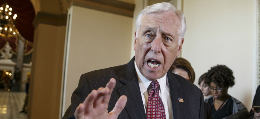 """Rep. Steny Hoyer, D-Md., said the rule change would allow for """"short-sighted"""" pay cuts that unfairly """"scapegoat"""" federal employees."""