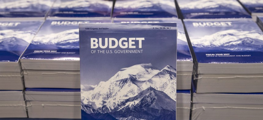 Copies of the fiscal 2017 budget. Agencies are still operating under a continuing resolution.