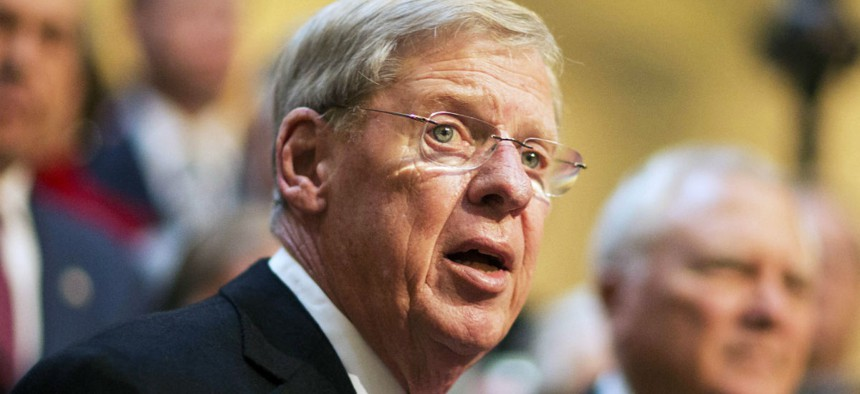 Sen. Johnny Isakson, R-Ga., is one of the lawmakers who inquired about VA's status during the freeze.