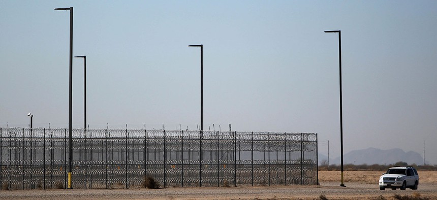 A detention center in Eloy, Arizona.