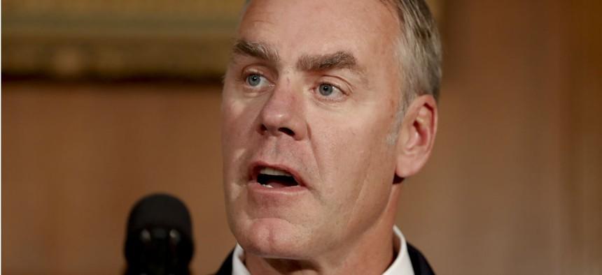 Interior Secretary Ryan Zinke told senators he would work to improve morale among employees who remain.