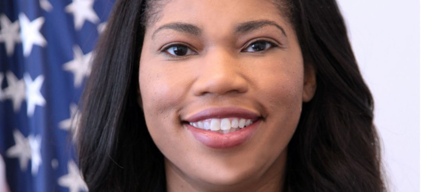 Former GSA Administrator Denise Turner Roth. Roth allegedly retaliated against Sharpe.