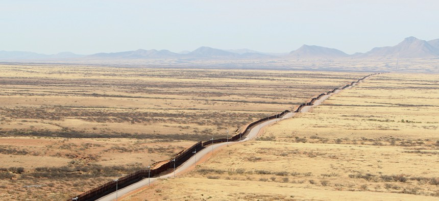 The current fence on the Arizona border is shown in 2011.