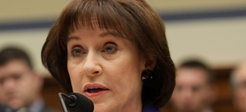 Lois Lerner, who formerly headed the IRS division that handles applications for tax-exempt status, testifies before Congress in 2014.