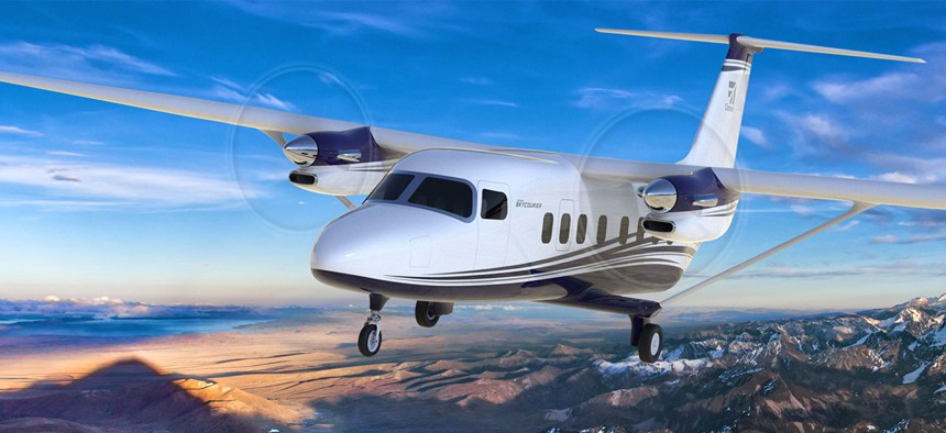 An artist concept of the new Cessna SkyCourier 408.