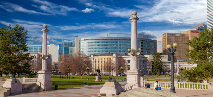 Denver city center.
