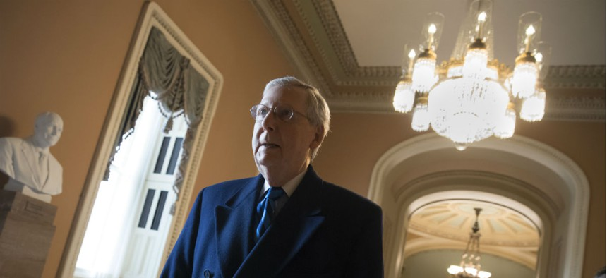 """On Sunday, Senate Majority Leader Mitch McConnell, R-Ky., said, """"This shutdown is gonna get a lot worse tomorrow."""""""
