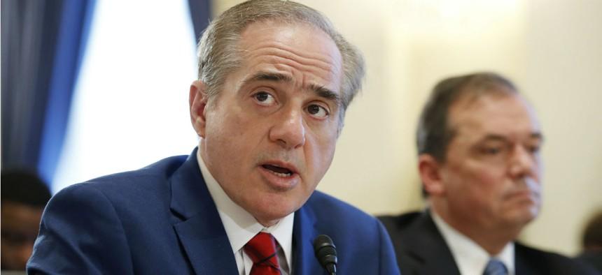 VA Secretary David Shulkin testifies before the House Veterans' Affairs Committee Thursday.