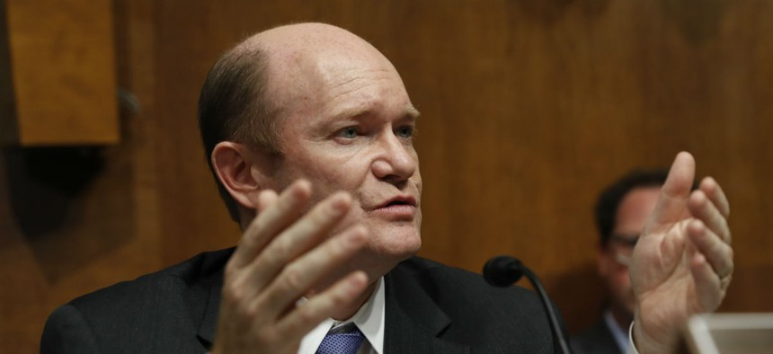 """Sen. Chris Coons, D-Del., said he was pleased the subcommittee backed a """"well-deserved"""" raise for federal civilians."""