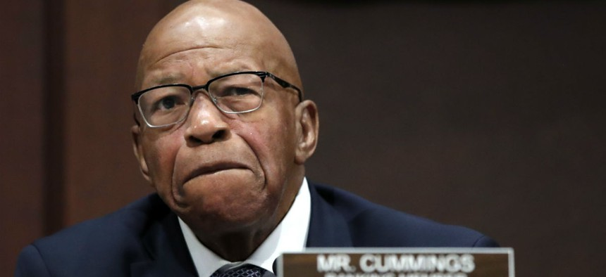 """Rep. Elijah Cummings, D-Md., said he was concerned the reorganization proposal was """"just an effort to do more harm to federal employees."""""""