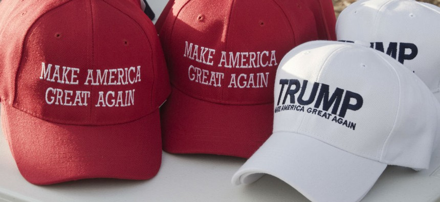 Federal employees are not allowed to wear MAGA gear on the job.