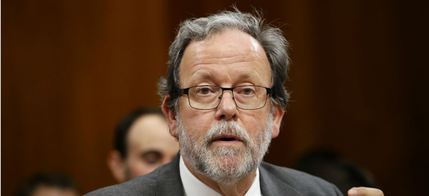 Congressional Budget Office Director Keith Hall testifies at a Senate Budget Committee hearing in January.