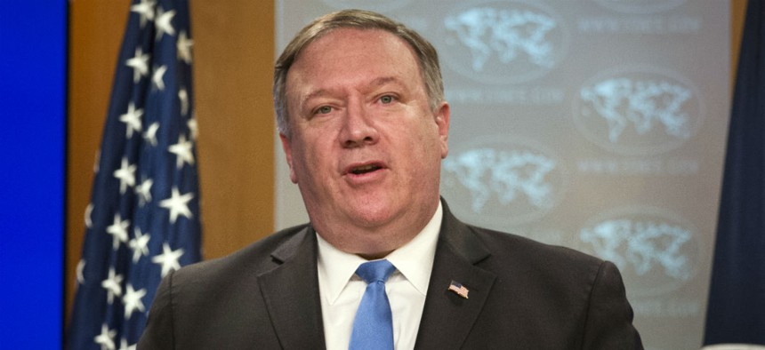Secretary of State Mike Pompeo announces the creation of the Iran Action Group at the State Department last week.