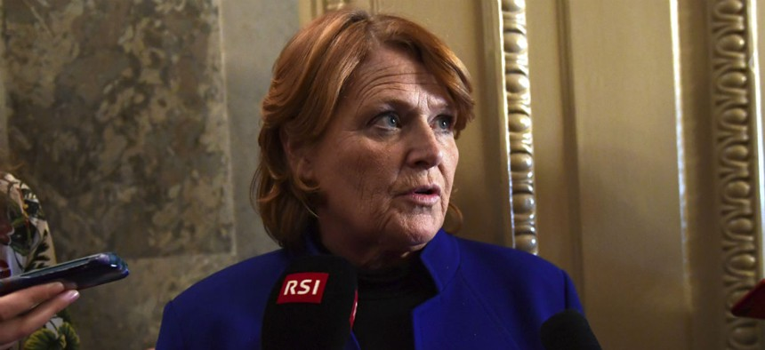 Sen. Heidi Heitkamp, D-N.D., succeeded in adding language to ensure bipartisan support for proposals to move forward.