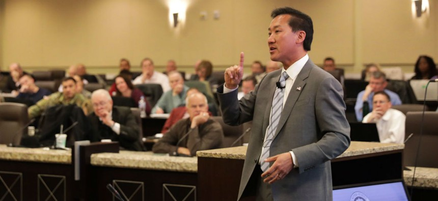 Office of Personnel Management Director Jeff Pon stepped down Friday.