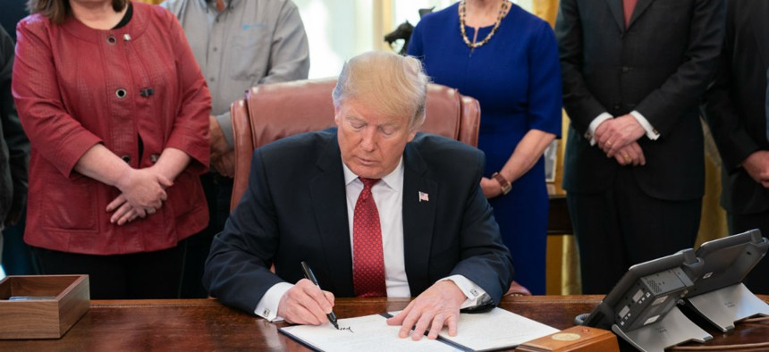 President Trump meets with American manufactures and signs an executive order to strengthen purchases of American products.