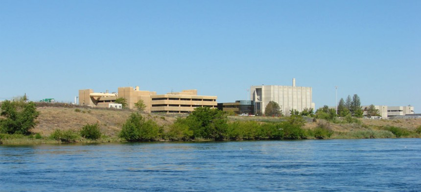 Hanford nuclear site in Washington on the Columbia River.