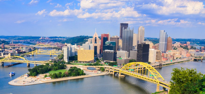 Pittsburgh, above, was the site of one of several regional sessions aimed at coordinating action among various levels of government and universities.